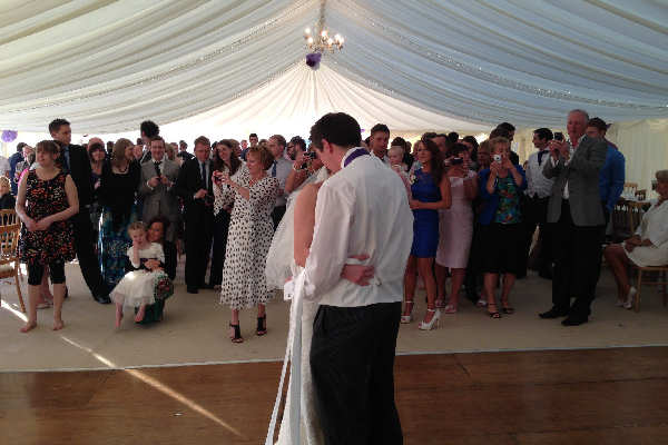 First Dance in a Marquee